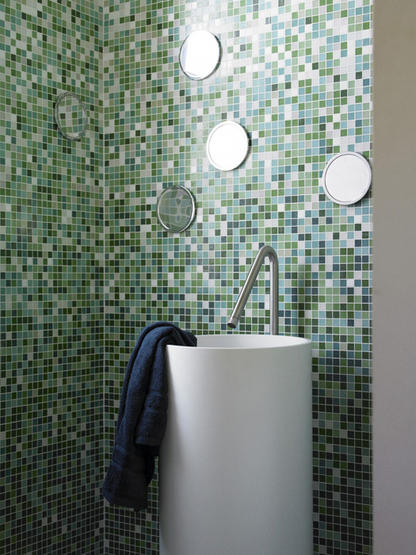 green mosic tile