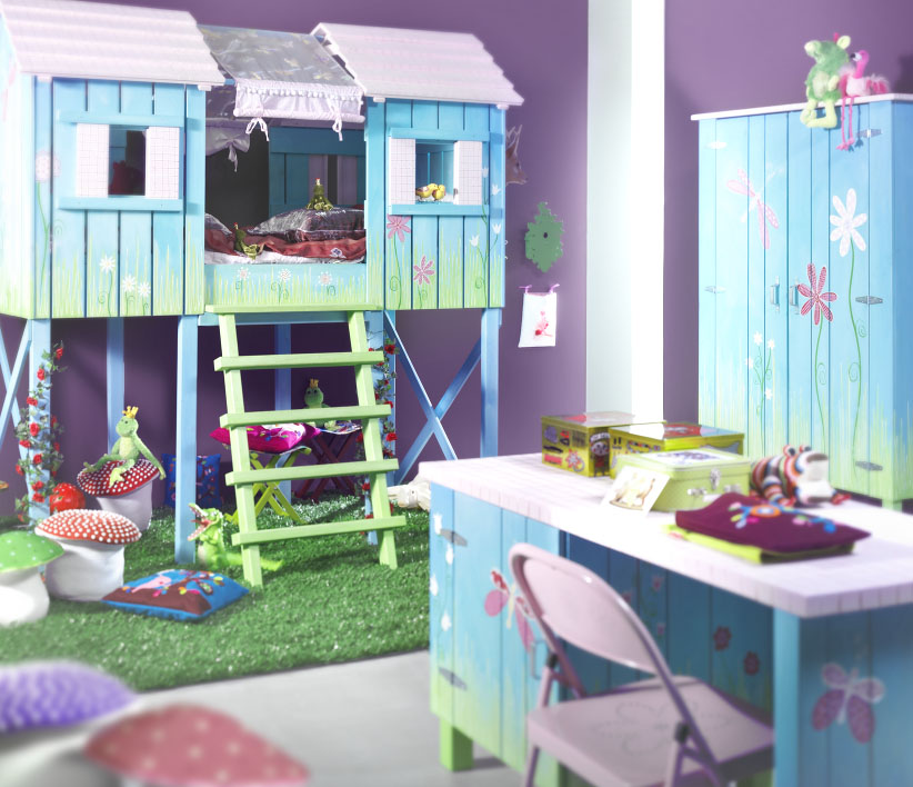 Children s bed cupboard kitchen studio of naples inc for Cool furniture for kids