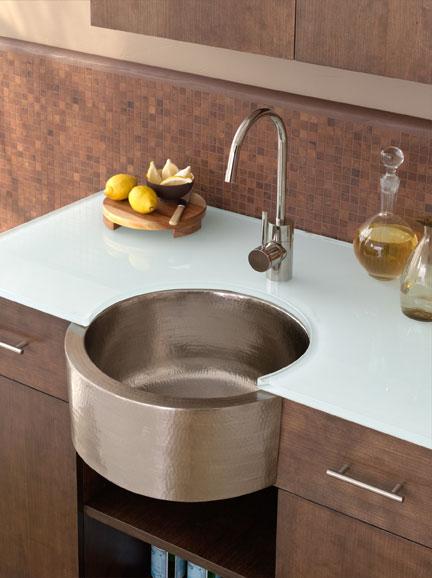 Brushed Copper Kitchen Sink