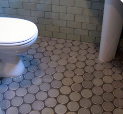 Round Capri Floor Tile by  Ann Sacks   KitchAnn Style