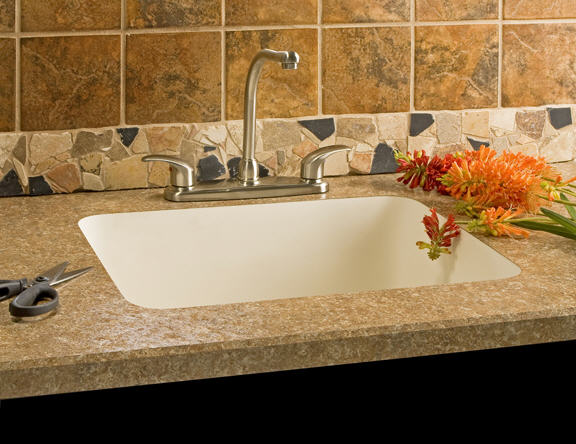 integrated acrylic sink | Kitchann style