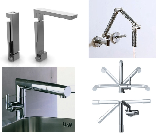 Folding faucets from KitchAnn Style