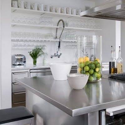 white industrial kitchen