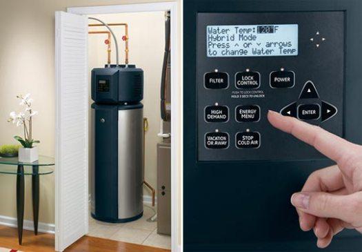 GE Water heater control pad