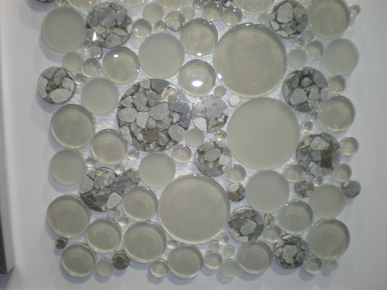 New Round Mosaic Tiles Kitchen Studio Of Naples Inc