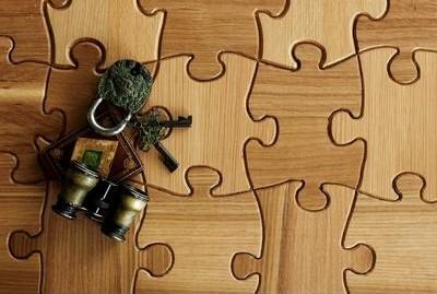 playful wood flooring kitchann style - Puzzle Wood Flooring