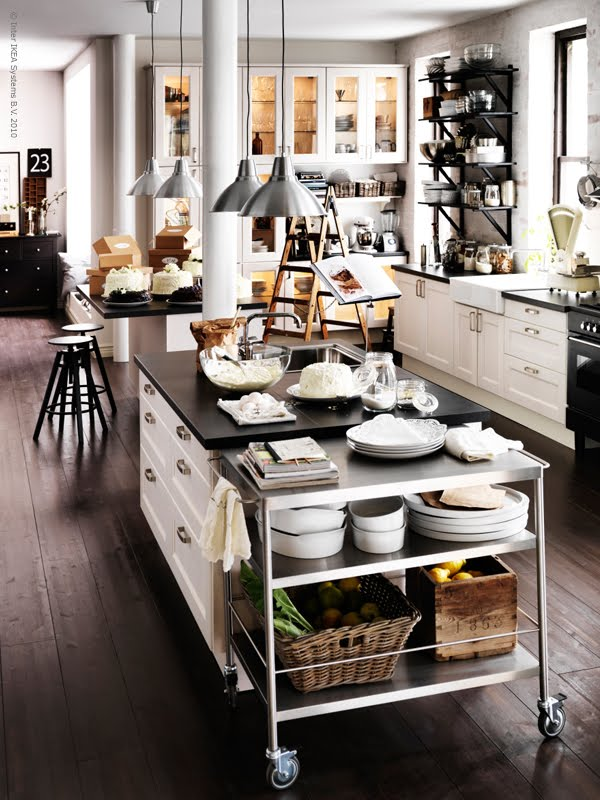 Vintage industrial chic kitchen studio of naples inc for Interior design inspiration industrial