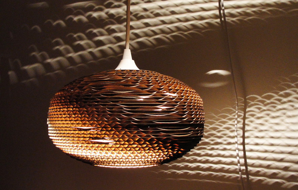 Recycled Corrugated Cardboard Lights Kitchen Studio Of