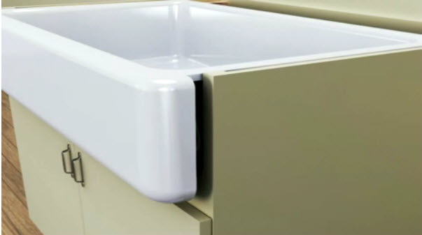 The Whitehaven sink is made of durable KOHLER Enameled Cast Iron and ...