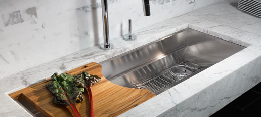 Single Basin Kitchen Sink Dishcloth Holder