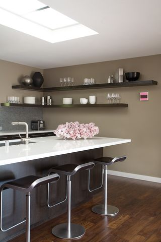 industrial metal shelves - Open Shelves Kitchen Design Ideas