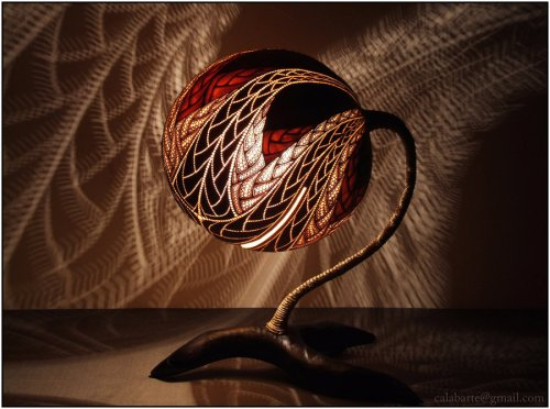 carved gourd lighting | KitchAnn Style