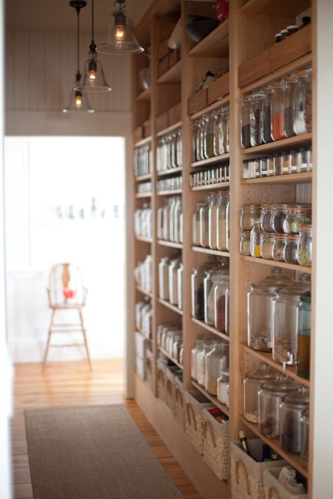 glass jar pantry via design sponge