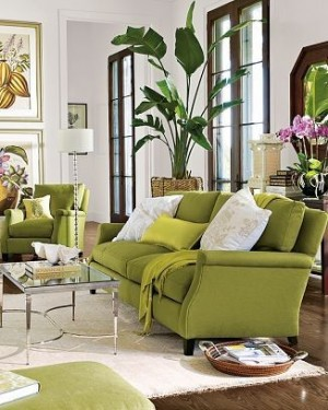 Chartreuse Sofa and Prints| KitchAnn Style