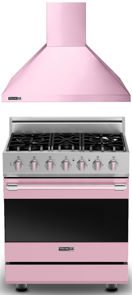 pink viking range & hood | KitchAnn Style