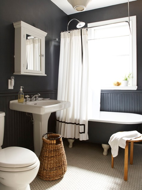 Dark Grey Bathroom | KitchAnn Style