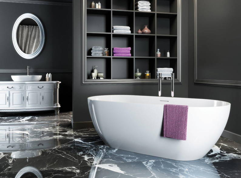 dark grey bathroom  nesgame for ., Home decor
