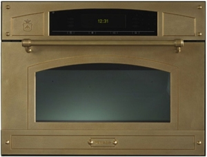 brass microwave by Restart | via KitchAnn Style