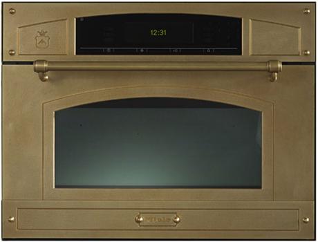 brass microwave by Restart | via KitchAnn Style