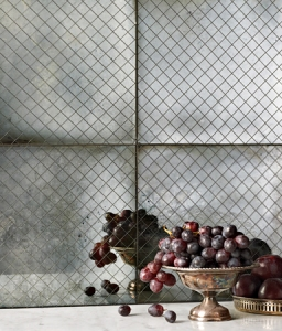 Hand-silvered Artisan Tile from Ann Sacks