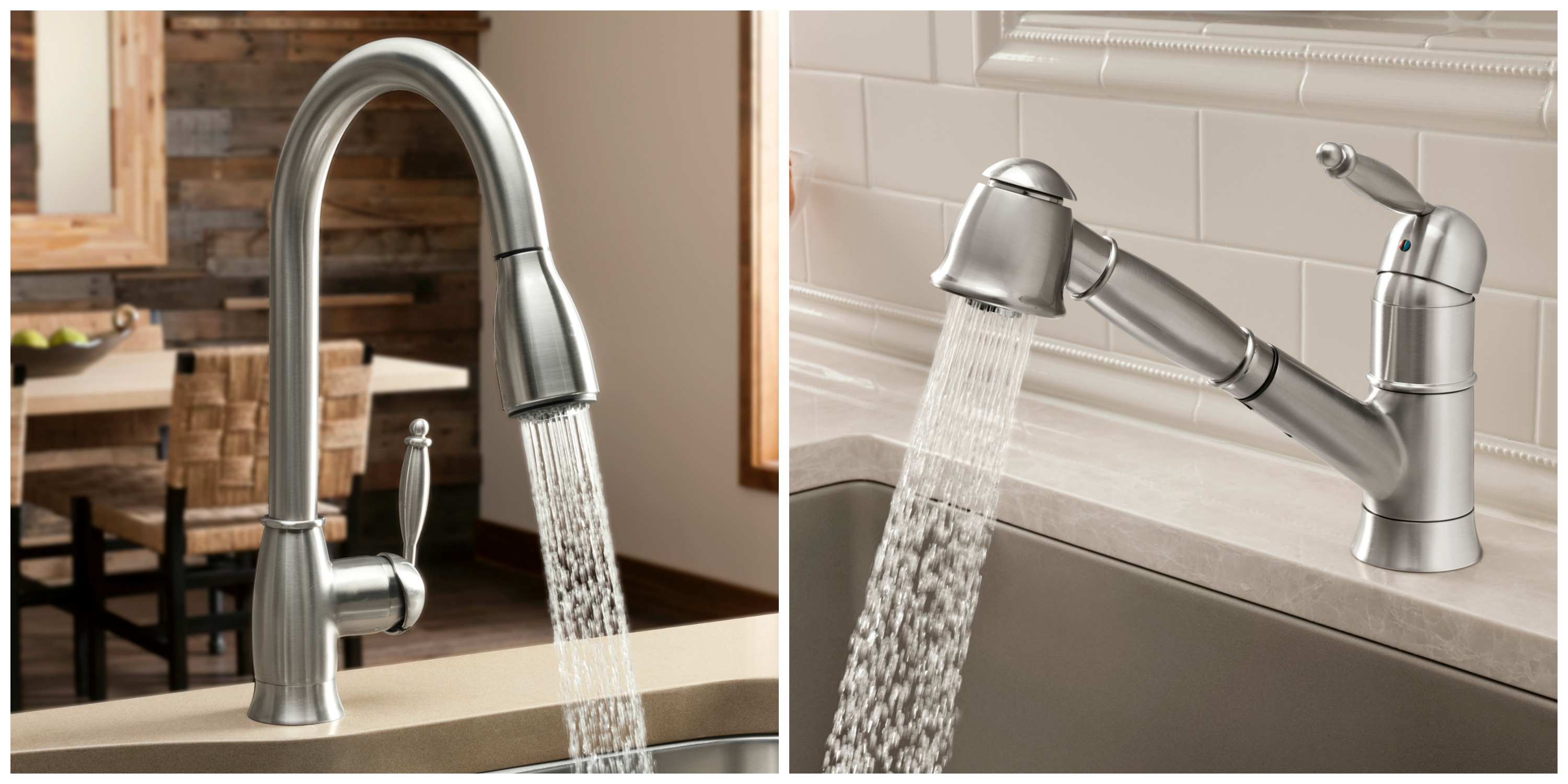 nickel polished units brushed faucet kitchen pre semi meridian pro chrome rinse professional blanco