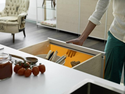 Meccanica drawers with fabric | KitchAnn Style