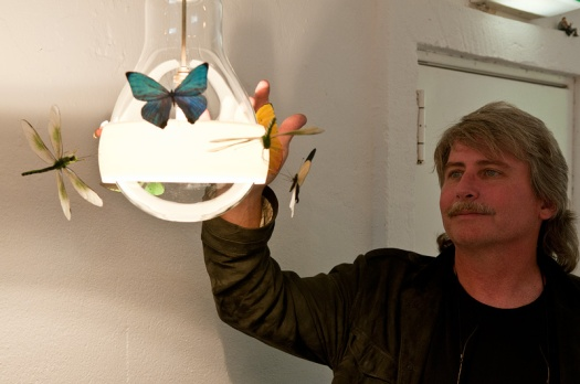 Artist Graham Owen with JB Schmetterling   KitchAnn Style