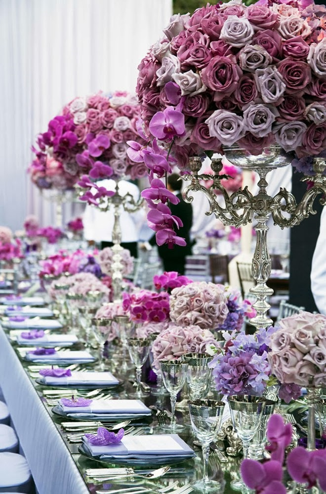 Radiant Orchid wedding ideas | KitchAnn Style