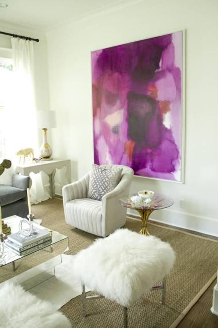 Radiant Orchid Wall art | KitchAnn Style