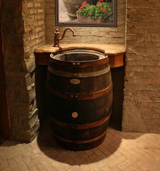 Wine Barrel Sink Ledge | KitchAnn Style
