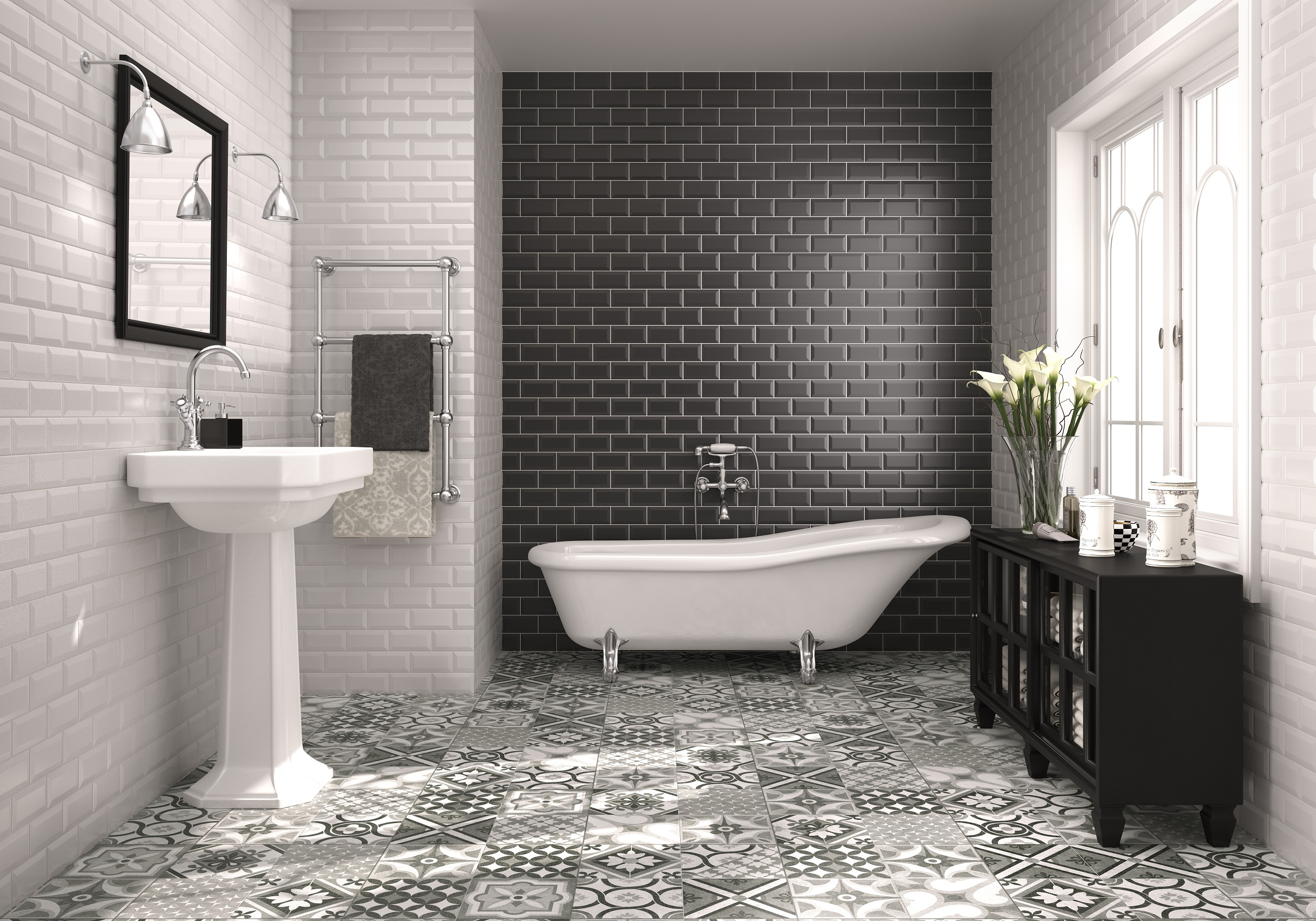 Top macro and micro bathroom trends of 2015 better for Latest floor tile trends