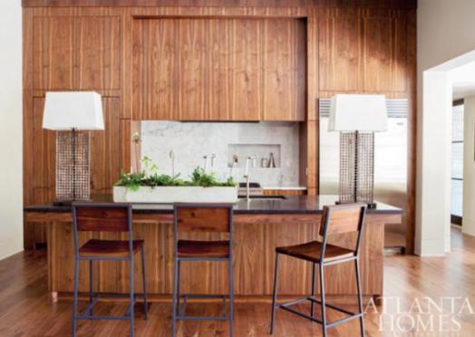 Table lamp ideas for kitchens via Atlanta Homes | KitchAnn Style