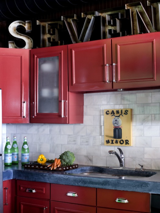 Red Kitchen Inspiration | KitchAnn Style