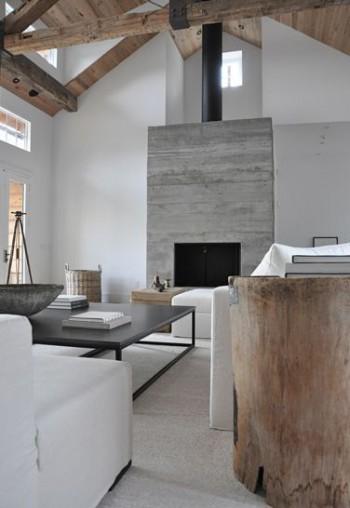 Modern Fireplace Rustic plank inspiration | KitchAnn Style