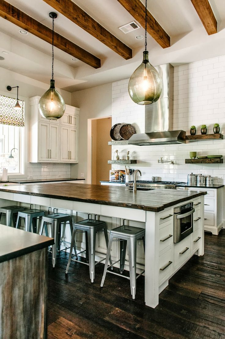 planks into countertops will add lots of personality to a kitchen