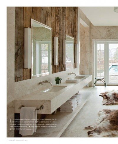 Rustic plank bathroom wall idea |KitchAnn Style