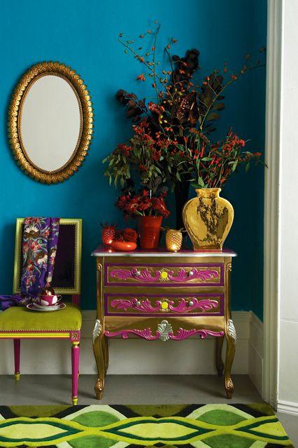 COTY blue paisley color inspiration kitchann