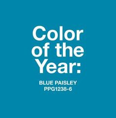 PPG COTY 2015 Blue Paisley | KitchAnn Style