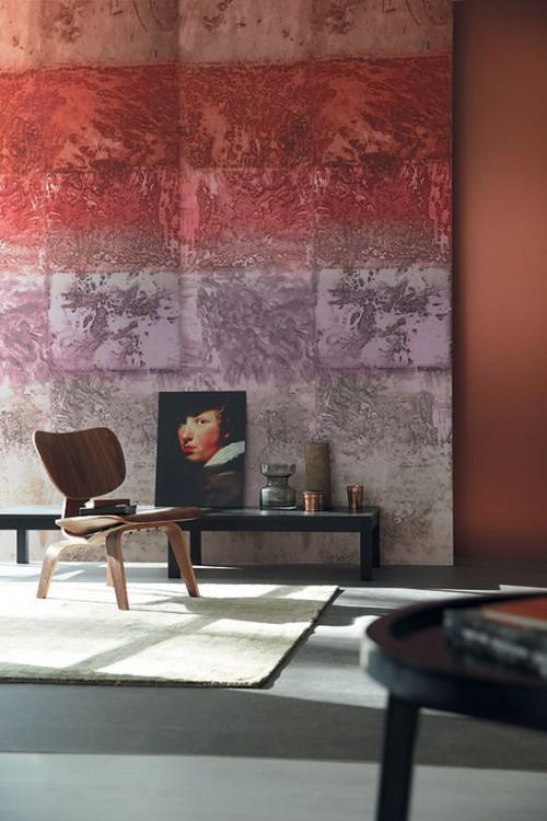 Marsala Inspiration coty2015 art wall kitchann style