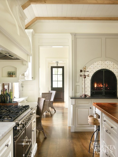 cozy fireplace kitchen | KitchAnn Style