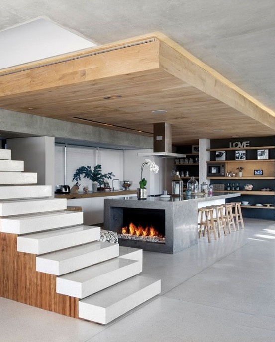 Large-Open-Kitchen-Low-Fireplace-KitchAnn-Style
