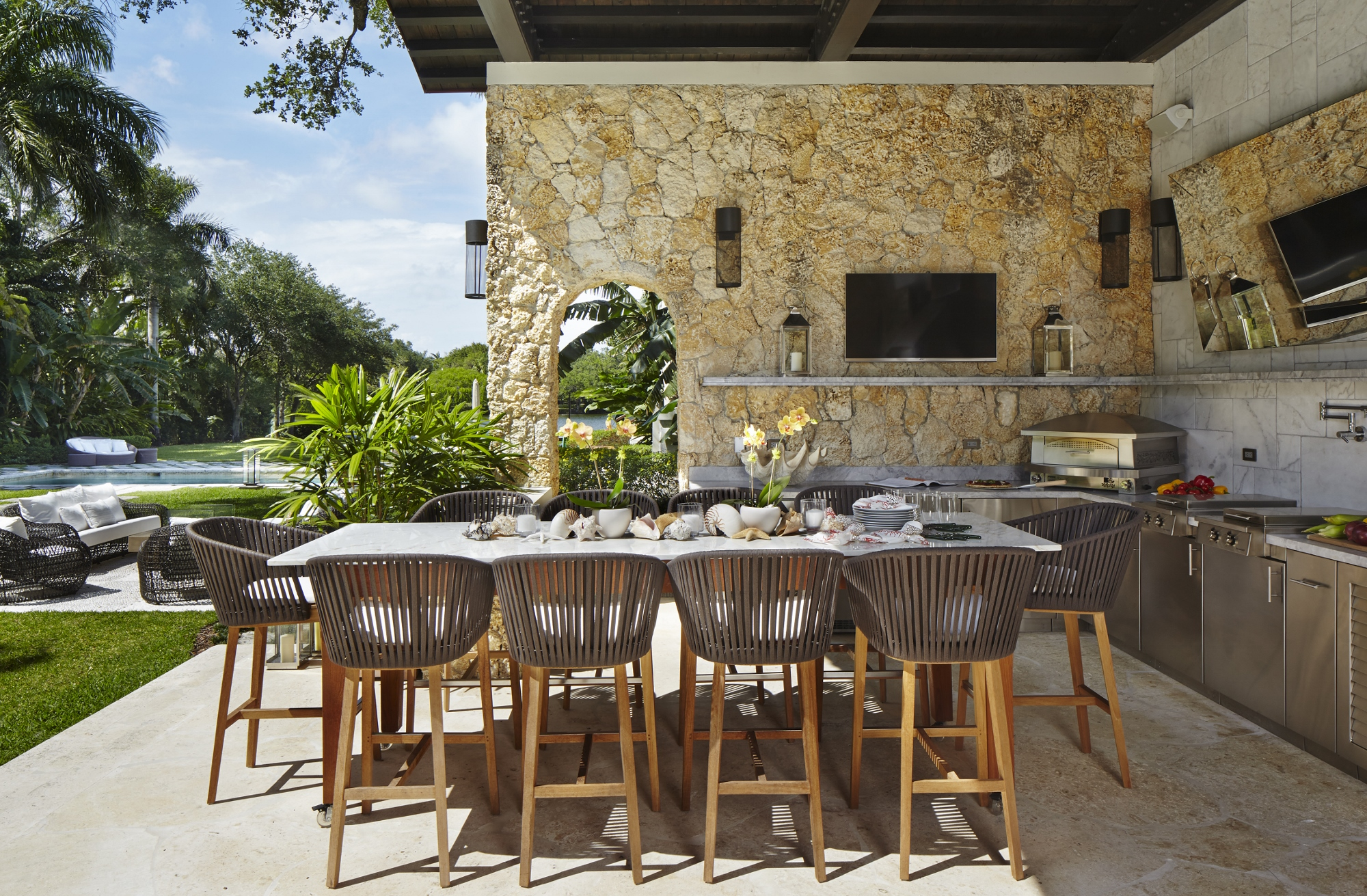 Outdoor Kitchens Expected To Be Hot In 2015 Kitchen Studio Of Naples Inc