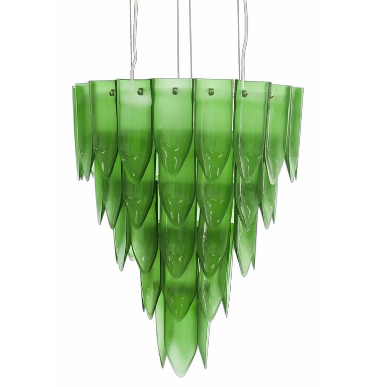 Recycled Glass Chandeliers | KitchAnn Style