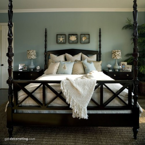Paradise Found master bedroom paint color