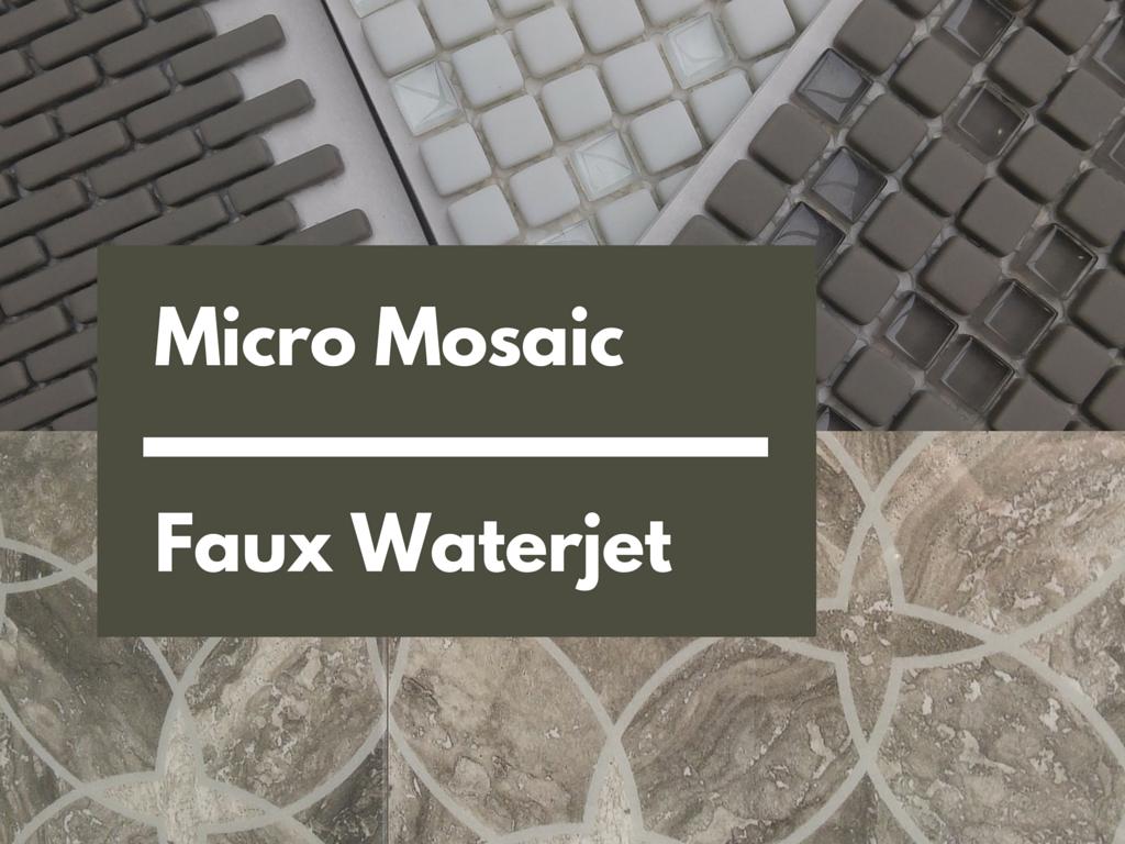 Micro Mosaic - Faux Waterjet   KitchAnn Style