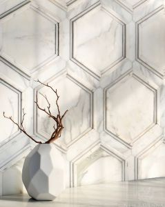 Calacatta mosaic Tile Stalks   KitchAnn Style
