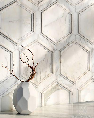 Calacatta mosaic Tile Stalks | KitchAnn Style