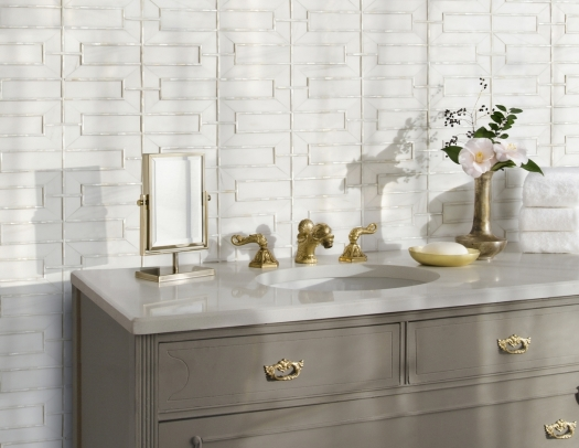 Stone and shell mosaic tile | KitchAnn Style