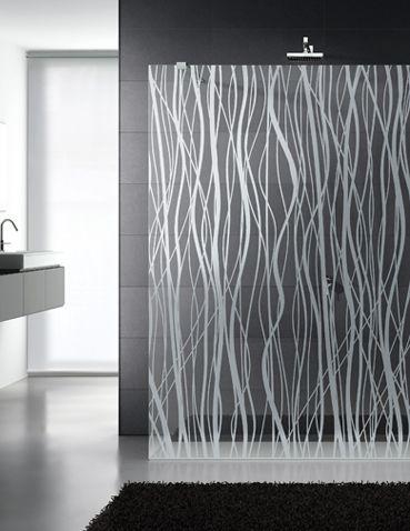 Patterned Shower Screen | KitchAnn Style