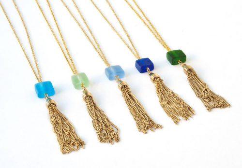 Upcycled Glass Necklace|KitchAnn Style